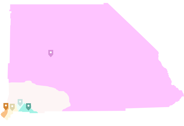 Map of San Bernardino County